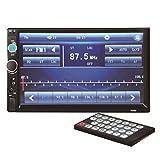 Vococal - 12V 7' TFT HD de Pantalla Táctil Bluetooth Radio FM Estéreo MP3 MP5 Reproductor Entrada AUX con Manos Libres y Función de Marcha Atrás, Soporte para USB SD tarjeta y Control remoto
