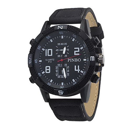 Souarts Herren Armbanduhr Einfach Stil Sport Analoge Quarz Uhr 24cm