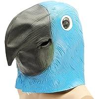 Alamor Azul Loro Pájaro Máscara Espeluznante Animal Halloween Disfraz Teatro Prop Party Cosplay Deluxe ...