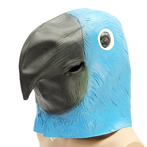 YONGYAO Blue Papageien Vogel Maske Creepy Animal Halloween -