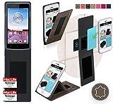 reboon Hülle für Oppo Neo 3 Tasche Cover Case Bumper | Braun Wildleder | Testsieger
