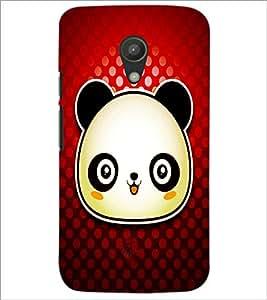 PrintDhaba Panda D-4871 Back Case Cover for MOTOROLA MOTO G2 (Multi-Coloured)