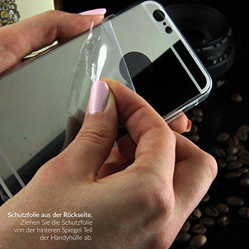 EGO® Luxus TPU Silikon Spiegel Schutz Hülle Back Case für LG G5 Gold Handy Cover mit Glanz Mirror spiegelnd, dünn und elastisch Kupfer