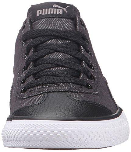 Puma 917 FUN Denim Jr. Toile Baskets Black-Steel Gray-Drizzle