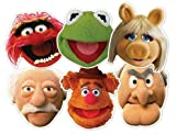 STAR CUTOUTS SMP60 STSMP60 Muppets, Party 6 Pack-(Kermit, Animal, Miss Piggy, Fozzy, Stadtler & Waldorf) Mask, One Size