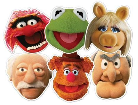 Star Cutouts–stsmp60–6Masken–verschiedene Figuren–The Muppets (Kermit Kostüme Und Piggy Miss)