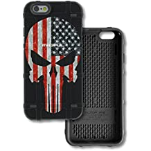 """LIMITED EDITION - Authentic Made in U.S.A. Magpul Industries Bump Case funda for Apple iPhone 6 / 6S (4.7"""") (Black, Punisher (USA Flag)"""
