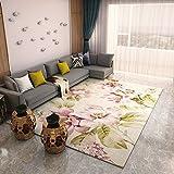 GRENSS Continental Teppichboden Wohnzimmer Sofa Tisch Matte Schlafzimmer mit Etagenbetten und Einem rechteckigen Minimalistischen Modernen idyllischen Amerikanischen Haushalt, JX-01A, JX-01A