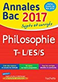 annales bac 2017 philosophie term l es s