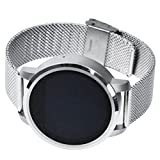 Anrufliste Schrittzähler Digitaluhr Für Damen , Bluetooth & Bluetooth-Musik & Sport Armbanduhr Sport Armbanduhr ( Silber Weiss )