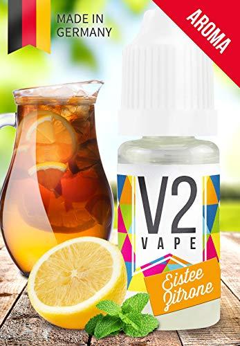V2 Vape Eistee-Zitrone AROMA / KONZENTRAT hochdosiertes Premium Lebensmittel-Aroma zum selber mischen von E-Liquid / Liquid-Base für E-Zigarette und E-Shisha 10ml 0mg nikotinfrei (Honig Drops Tee Für)