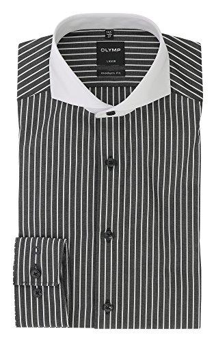 Olymp - Camisa Formal - Cuello Italiano - para Hombre Negro
