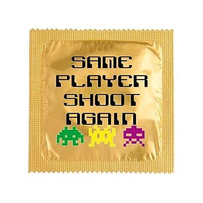 Préservatif humoristique SAME PLAYER SHOOT AGAIN