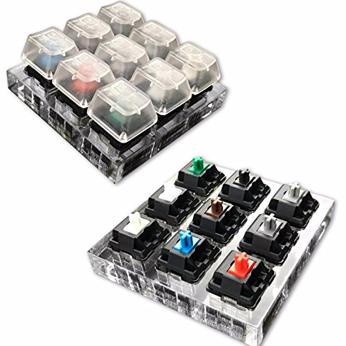 mway-9-x-cherry-mx-switches-9-x-cherry-acrylic-keyboard-tester-kit-clear-keycaps-sampler