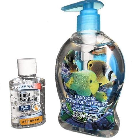 3D Tropical Fish Hand Soap Pump with Tropical Breeze Scent