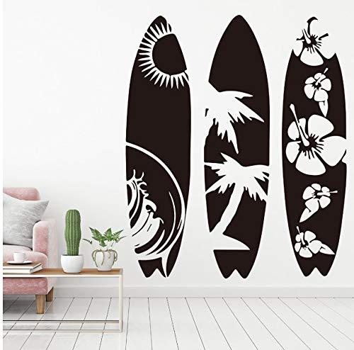 Wandtattoo Schlafzimmer Set Of 3 Surfboard Bedroom Living Room Beach Surf Board Sport Wall Decal Kids Room Children Room Pvc 56Cm High