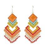 Crunchy Fashion Stylish Party Wear Fancy Multicolor Alloy Dangler Earring For women & Girls