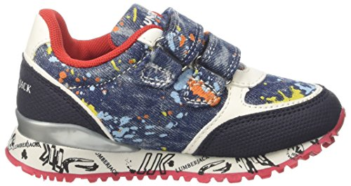 Lumberjack Galaxy, Sneakers basses garçon Blu (Splash Blue/Blue)