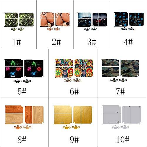 L-MEIQUN,Stilvolle Ganzkörper-Decal-Haut Aufkleber für PS4 Playstation Konsole und 2 Controller Stil 1(Color:# 9) (Stil-flash-laufwerk)