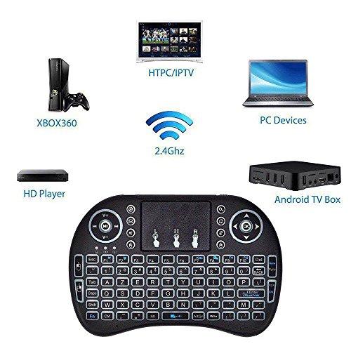 BASKER 2.4GHz Mini i8 Wireless Keyboard (AZERTY) sans Fil Air Souris Clavier Mini Clavier sans Fil Smart TV, HTPC, IPTV, XBO X360, PC, Pad, PS3, tablettes, etc