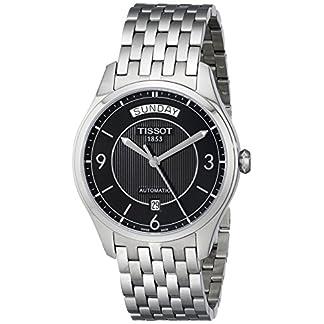 Tissot T0384301105700 – Reloj analógico de mujer automático con correa de acero inoxidable plateada