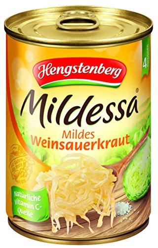 Preisvergleich Produktbild Hengstenberg Mildessa Weinsauerkraut 4 Portionen,  12er Pack (12 x 580 ml Dose)