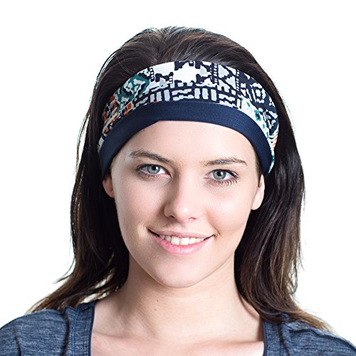 Red Dust Active Sports Headband - Made for Versatility and Tough Workouts - Great for Training, Yoga, Running, Cross-fit, the Gym and Studio Sessions - LIMITED EDITION - one off Patterns