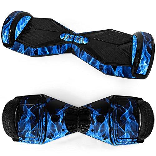 Preisvergleich Produktbild Balance Scooter / Hoverboard Blaue Flammen Aufkleber