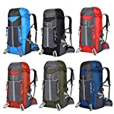 Mignon84CookMen&Women 45L Travel Backpack,Extra Large Backpack Daypackfor Travel Hiking,Computer Backpack with USB Charging Port/Headphones