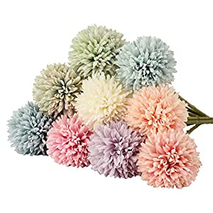 Flores artificiales de seda YQing, 6 unidades de hortensias de flores artificiales para decoración de mesa de boda para…
