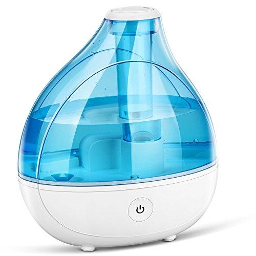 VicTsing 11152017 - Humidificador Bebé Seguridad Ultrasónico, Silencioso, Ambientador, Boquilla 360° Grados, Luz Suave, Botón del Sensor Táctil