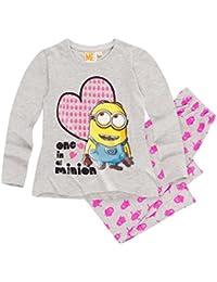 Minions Despicable Me Chicas Pijama - Gris - 128