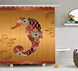 Best Animal World Mooses - tgyew Animal Shower Curtain, Ornamental Seahorse Creature Review