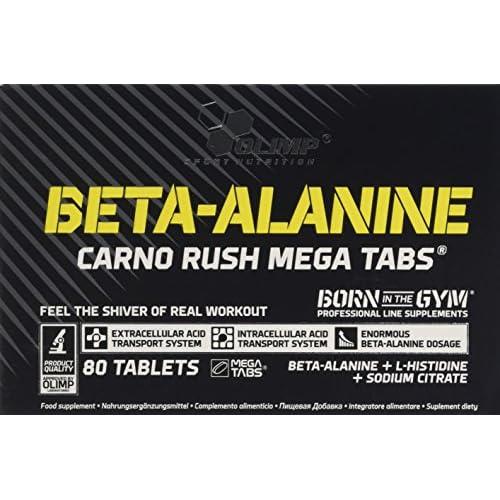 Olimp Labs Beta-Alanine Capsules, Carno Rush, Pack of 80 Mega Tablets, BETA-Alanine CARNO Rush