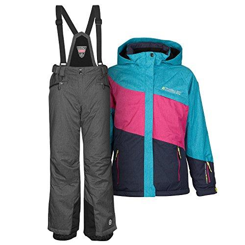 Killtec Skianzug Frauen Damenskianzug Skijacke Acelya Azur + Skihose Hila grau Gr. 46