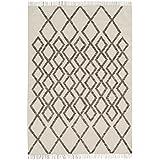 Alfombra salon sala de estar Orient Carpet clásico Design HACKNEY KELIM DIAMOND RUG 80% Lana 20% Jute 120x170 cm Rectangular Marrón | Alfombras barata online comprar
