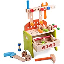 Babyhugs - Juego de herramientas para banco de trabajo infantil (40 piezas)