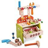 Babyhugs Kinder-Werkbank-Werkzeugkiste für Kleinkinder, 40-teiliges Set