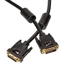 AmazonBasics DVI to DVI Cable - 6.5 Feet (2 Meters), 10-Pack