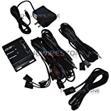 Hidden Dual Band IR Infrared Remote Control Repeater Extender 4 Emitters AV Kit