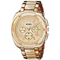XOXO Women's XO5647 Bone and Rose Gold Bracelet Analog Watch