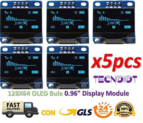 5pcs OLED 128X64 Display OLED LCD LED Display Module I2C IIC SPI Serial |  5pcs 2 4cm SSD1306 I2C IIC SPI Série 12864 - Écran LCD OLED pour Adafruit