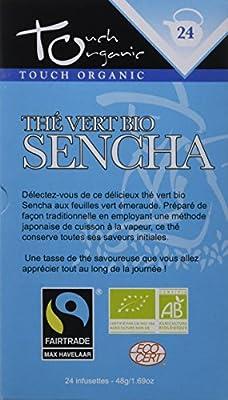 Touch Organic Thé Vert Bio Sencha 24 Sachets 48 g - Pack de 6