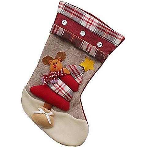Decorazioni Natalizie Babbo Natale Ciondolo Calzini Calze Di Natale Sacchetti Di Caramelle Di Natale, Cervo