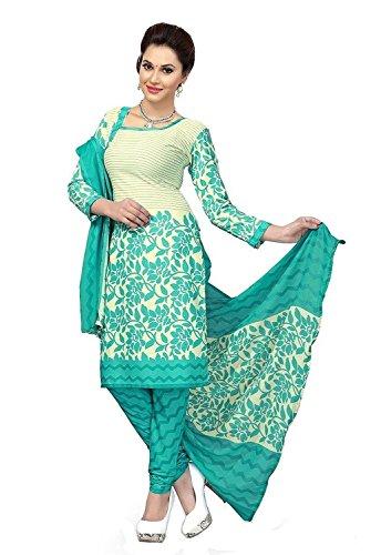 Sky Global Women's Cotton Unstitched Salwar Suit Dress Material (Dress_840_FreeSize_Blue)