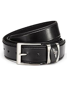 Uomo ueberlaengen Cintura Jeans cintura 3,8cm larghezza di spessore del metallo fibbia della individualmente...
