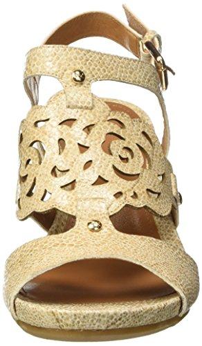 Brax Damen Sandaletten, Sandales à talon compensé femme Or - Gold (091 oro)