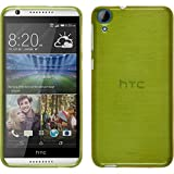 PhoneNatic Case kompatibel mit HTC Desire 820 - pastellgrün Silikon Hülle Brushed + 2 Schutzfolien