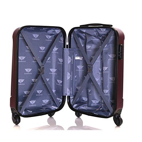 Slimbridge Alameda 55cm hart 4 Rädern Kabine Koffer, Schwarz Lila