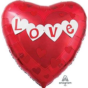 amscan 3186099 Love Banner Jumbo - Globo de Papel de Aluminio
